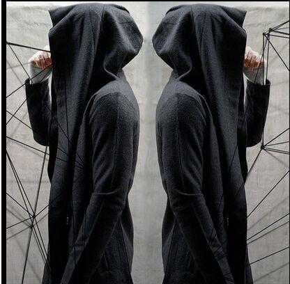 Casual Wizard Balck Loose Cloak Coat