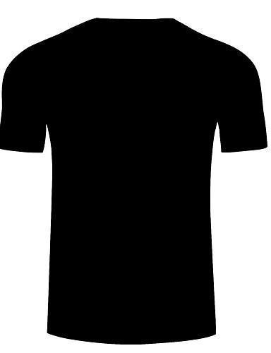 Men Exaggerated Color Block 3D Print T Shirt
