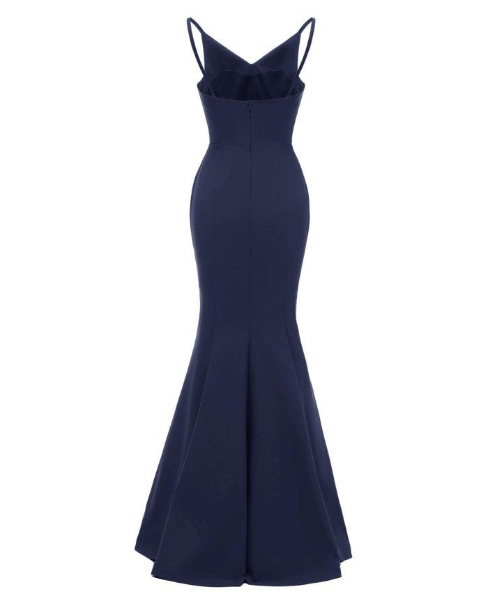 fashion Condole belt evening dress Sexy Backless formal dress Elegant evening dresses long mermaid evening gown Party Dress