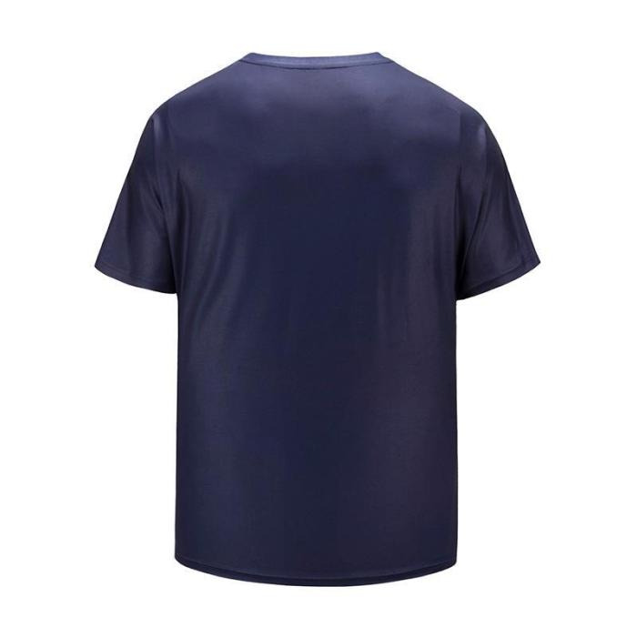 Large Size Men's Short Sleeve Loose T-shirt