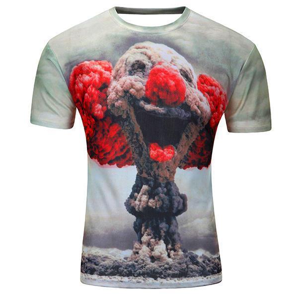 Cheap Mens 3D Printing Fashion Cotton Soft Short Sleeve T-shirts