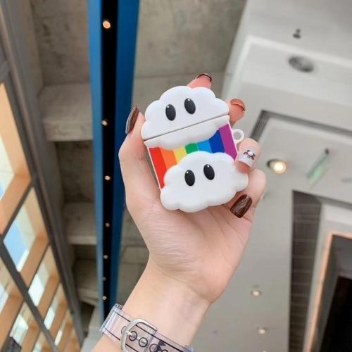 Kawaii 3D Rainbow Silicone AirPods Case Shock Proof Cover