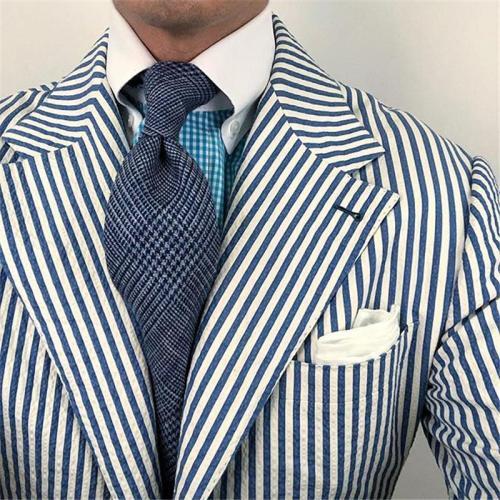 Fashion men's business blue tie LH011