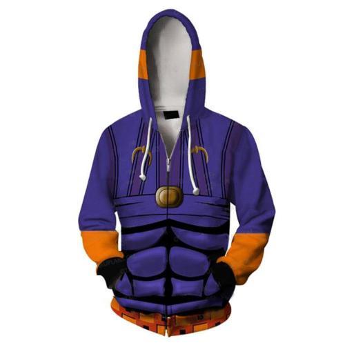JoJo's Bizarre Adventure Zip Hoodie Casual Hooded Sweatshirt