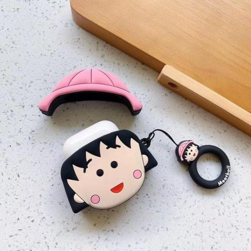 Chibi Maruko Chan AirPods Case Silicone Shockproof Cover