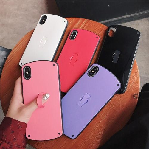 Fashion Bracket Candy Color Phone Case For iPhone