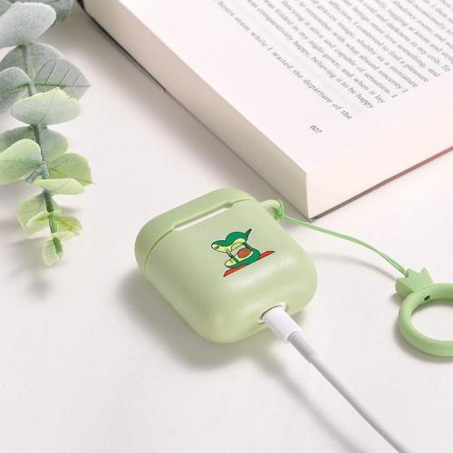 Cartoon Green  Avocado Silicone AirPod Case Cover