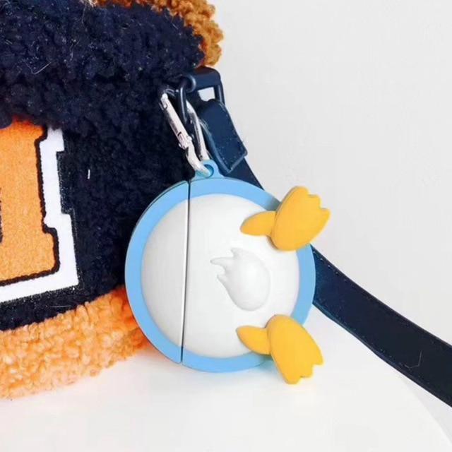3D Cartoon Butt PP Silicone AirPod Case Cover Pikachu & Donald