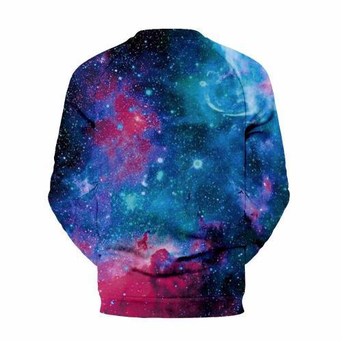 Men's Star Print Printed Collar Sweater