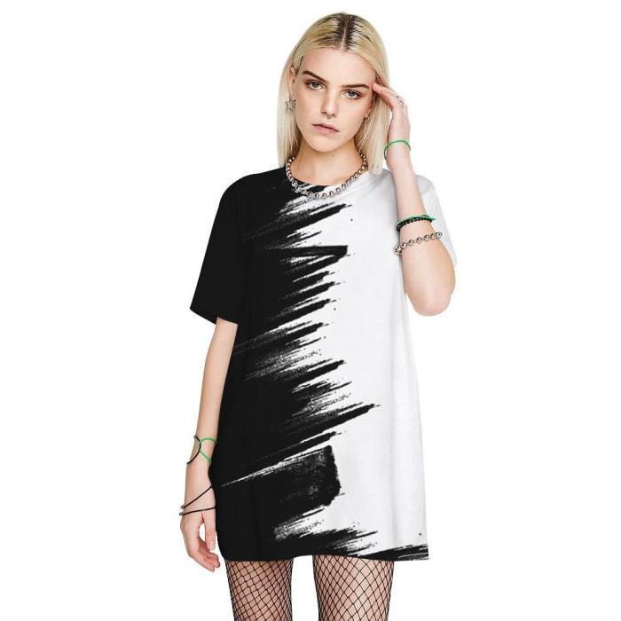 3D Printed Funny Men T-shirt Loose Casual Novelty Short Sleeve Tees Top
