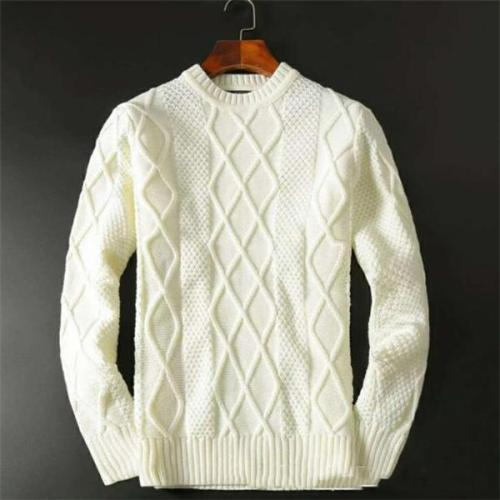 Casual Fashion Slim Solid Color Long Sleeve Men Sweater Top