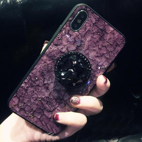 Luxury Diamond Marble Glitter silicon phone case for iphone