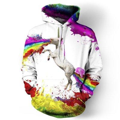Unicorn Hoodie Casual Sweatshirt