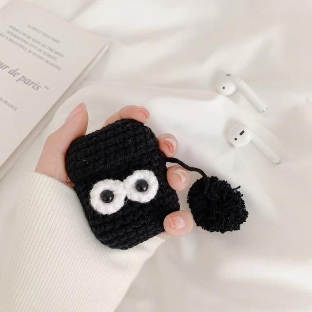 Winter Knit Cute Cartoon Elephant Plush AirPod Case Cover