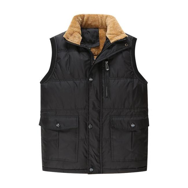 Men's Vest Plus Velvet Down Cotton Vest