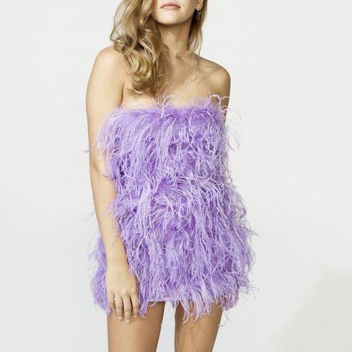 Sexy Plush Wrapped Halter Sleeveless Dress
