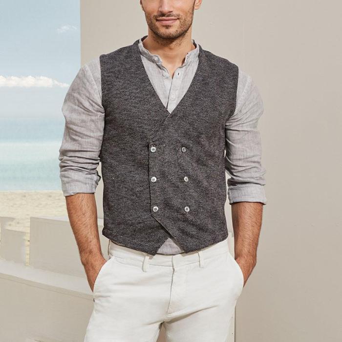 Casual temperament wild business men's vest