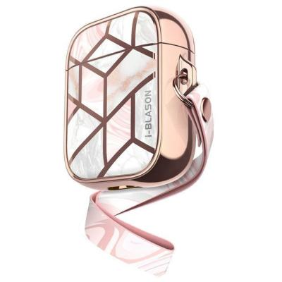 Pink Quartz Marble Pattern Airpods Case Shockproof Cover