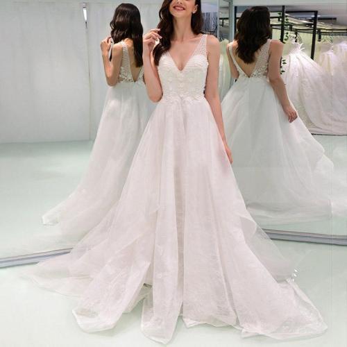Fashion Elegant Mesh Tube Top Backless Evening Dress