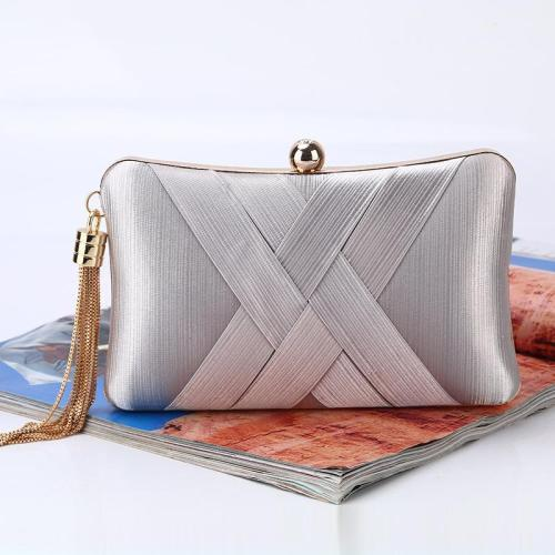 Elegant fringe cross strap evening bag