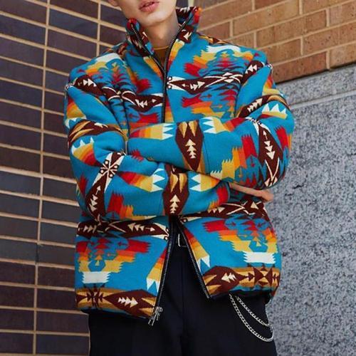Modern Printed Color Men's Jacket