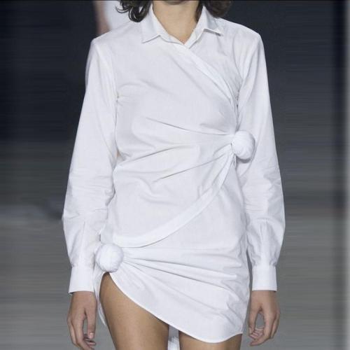 Women's Fashion Solid Color Mini Dress