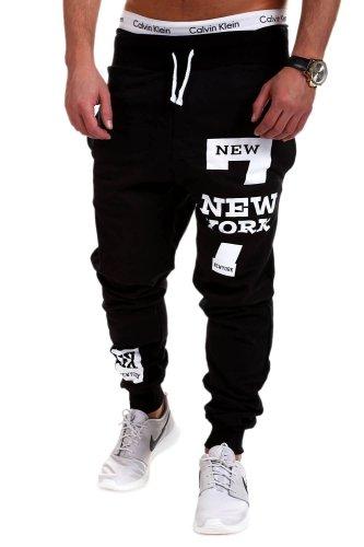 NEW YORK Letter Hip Hop Print Design Men's Casual Pants