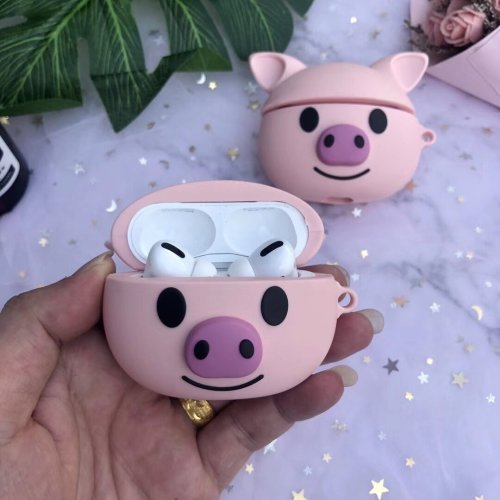 Silicone Pig AirPods Pro Case Shock Proof Cover