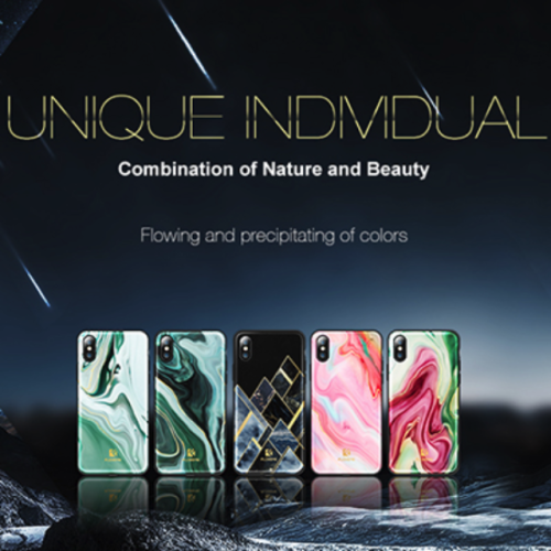 Luxury Agate Pattern Soft Edge Phone Case For iPhone X 8 8Plus 7 7Plus