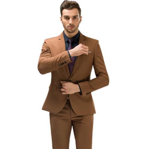 Male Wedding Prom Suit Slim Fit Burgundy Suit Business Formal Men Costume Best Man Suits 2Pcs Set (Jacket+Pants) Plus Size 5XL