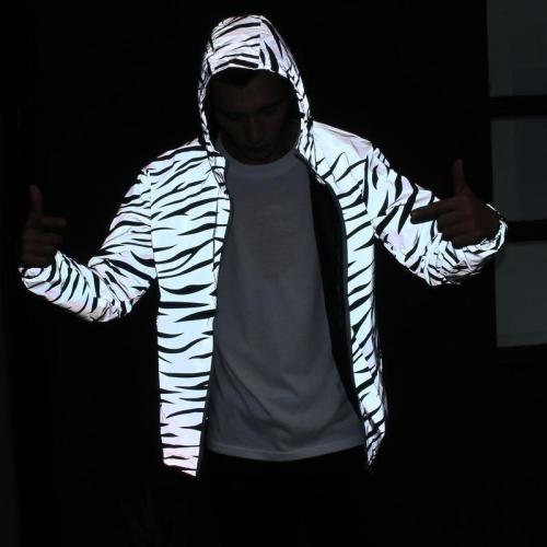 Reflective Material Jacket Zebra