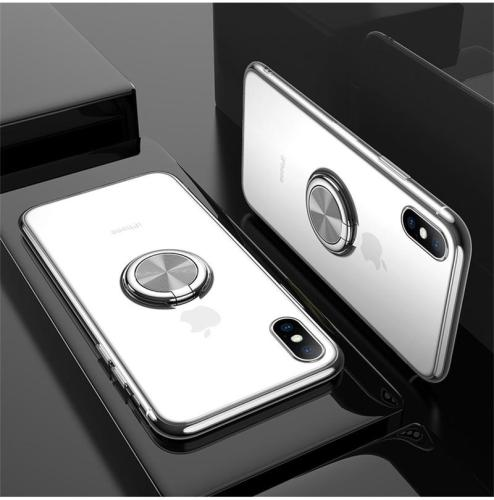 Luxury Transparent Ring Magnetism Case For iPhone