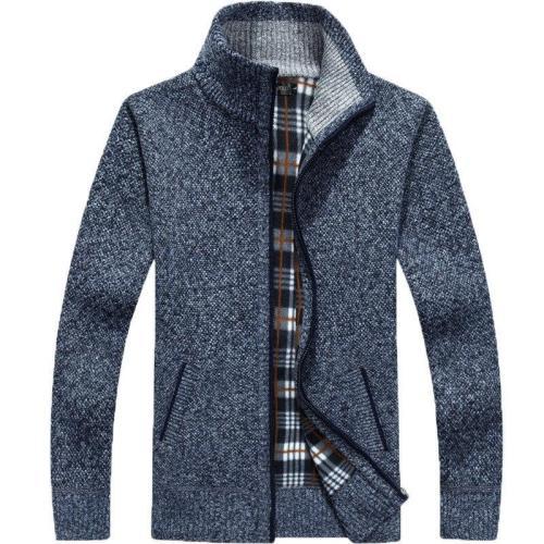 2020 new winter sweater men's coarse fur coat men's knitting top with random size m-3xl