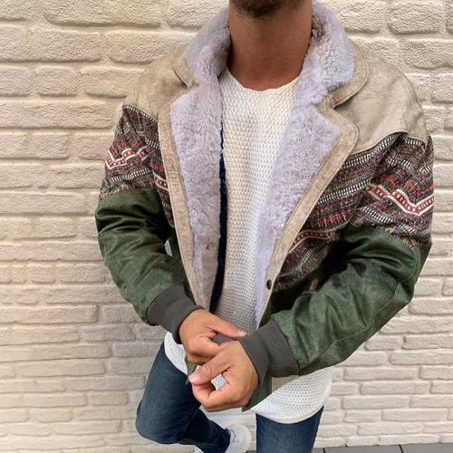 Vintage Loose Men's Printed Jacket