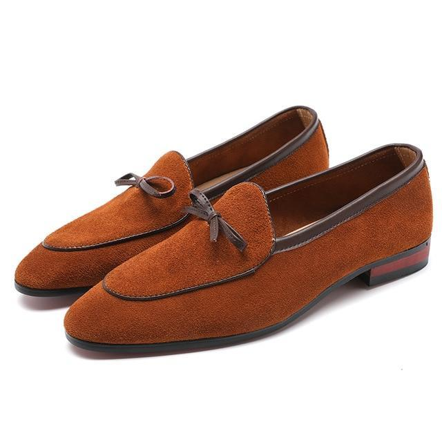 Italian Style Tassel Suede Gentleman Shoes