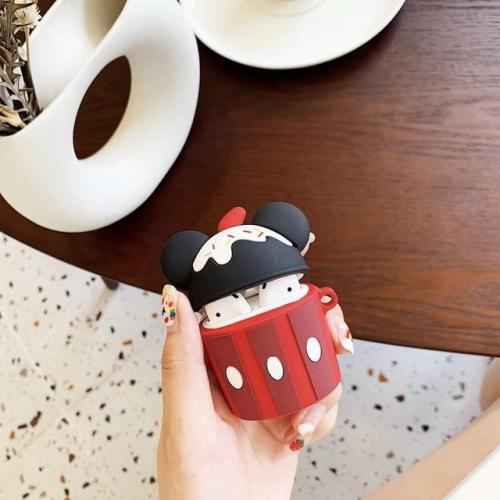 Cute Cartoon Mouse Cake Silicone AirPods Case Shock Proof Cover