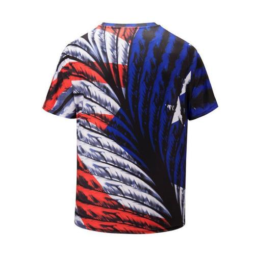 Colored Feather 3D Printed T-shirt