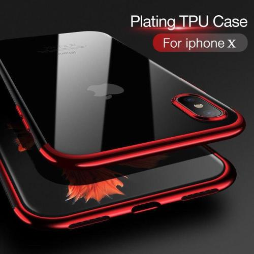 Ultra Thin Slim Transparent TPU Shockproof Case For iPhone X 8 7 6  6s Plus