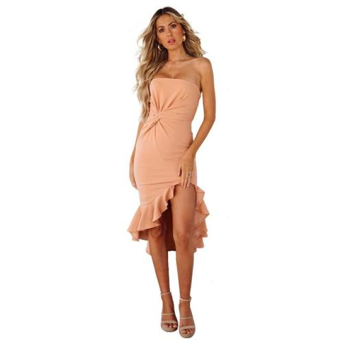 sexy Off Shoulder Evening Dress strapless Ruffle Slim fit evening Dresses Mermaid Formal  In the long Evening Gown