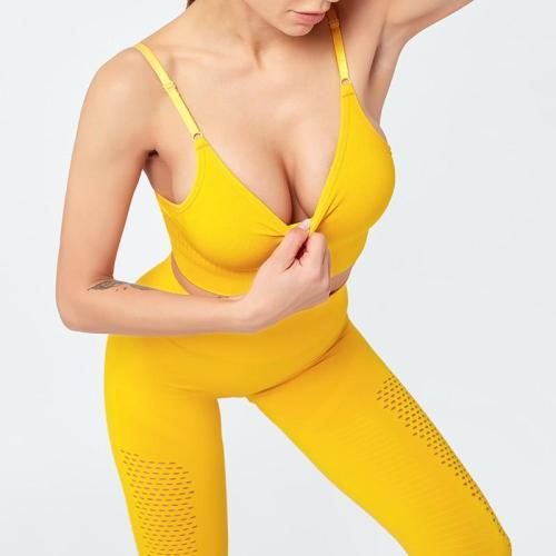 Women Legging Seamless Bra+Top+Pants Yoga Set Gym Clothes High Waisted Sport Outfit Wear Tight Suit Costume For Femme Sportswear