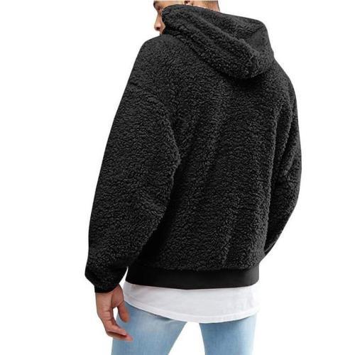 Plush Hooded Men's Sweater