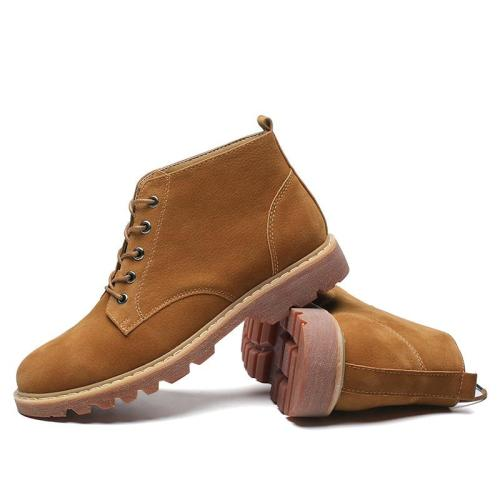 Men Boot Shoes 2019 New Design Rubber Sole Non-slip Fashion Suede Ankle Boots High-top Sneakers Men Leather Booties