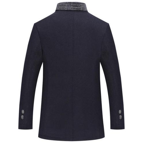 Winter Wool Jacket Men Thicken Business Casual Woolen Coats Single Breasted Warm Male Wool & Blends Jacket 5XL