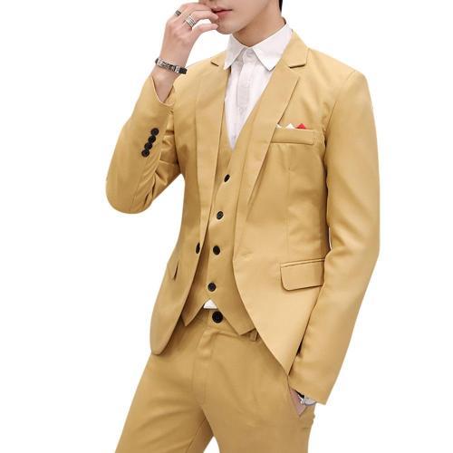 Men Slim Fit Social Blazer Spring Autumn Fashion Solid Wedding Dress Coat Casual Plus Size Business Male Suit Jacket