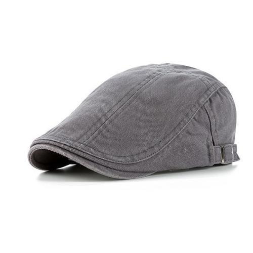 Men Solid Color Beret Cap Duck Hat Sunshade Outdoors Peaked Forward Cap