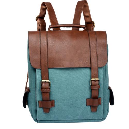 Vintage canvas college wind backpack