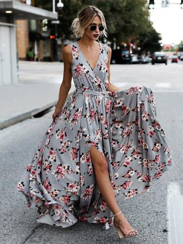 Bohemia Sleeveless Split-side Maxi Dress