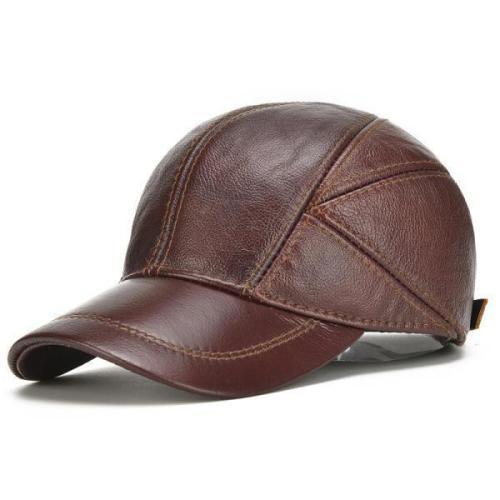 Winter Warm Leather Baseball Cap Earflap Ear Muffs Windproof Cap