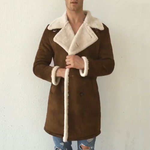 Fashion Men's Long Sleeve Warm Thicken Outerwear