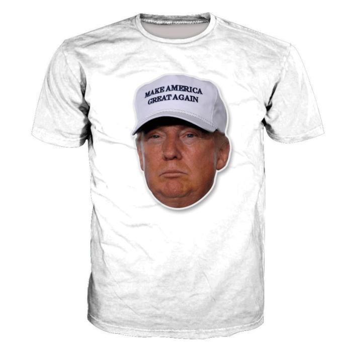 Trump Printed Short Sleeve Men's T-Shirt